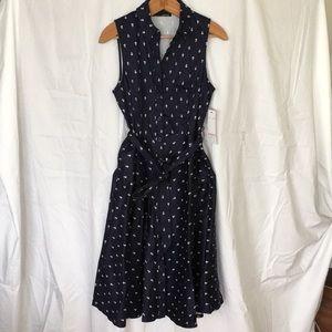 NWT Nautical button down Chetta B dress